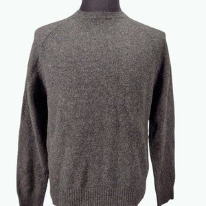 J. Crew Men's Sweater Wool Crewneck Pullover Charcoal Gray Size Medium